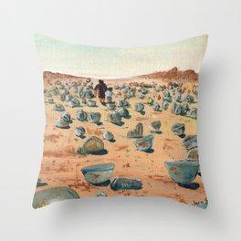 The Battlefield. Throw Pillow