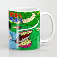 monster hunter Mugs featuring Monster Hunter by Rasheed Daoud Hines