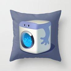 Washing Mashine Throw Pillow