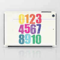 numbers iPad Cases featuring Numbers by Laura Flowerday (PaperCrane)