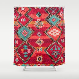 18 - Traditional Colored Epic Anthique Bohemian Moroccan Artwork Shower Curtain