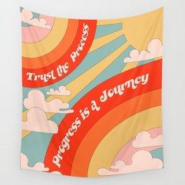 PROGRESS IS A JOURNEY Wall Tapestry