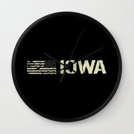 Black Flag: Iowa Wall Clock
