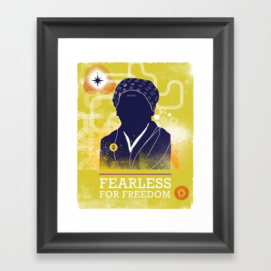 FEARLESS: For Freedom Framed Art Print