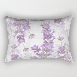 Lavender Flowers Vintage Style #decor #society6 #buyart Rectangular Pillow