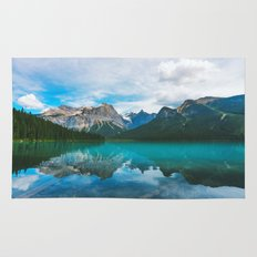 The Mountains and Blue Water Rug