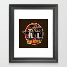 Owls Pulp Fiction Framed Art Print