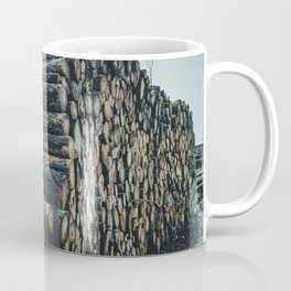Poltery Site (Wood Storage Area) After Storm Victoria Möhne Forest 4 dark Coffee Mug