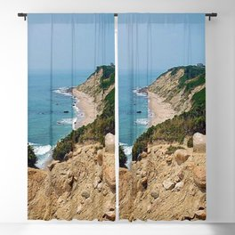 Mohegan Bluffs and Beach - Block Island (New Shoreham) Rhode Island Blackout Curtain