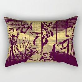 Gervais V Carell V Brent V Scott Rectangular Pillow