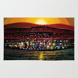 Angel Island Sunset (Square) Rug