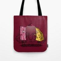 the breakfast club Tote Bags featuring Breakfast Club by Salih Gonenli