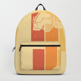 garbage truck collection vintage retro Backpack
