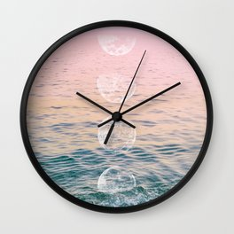 Moontime on the Beach Wall Clock
