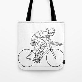 Transitions through Triathlon Cyclists Drawing B Tote Bag