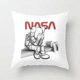 Kaws in Nasa Throw Pillow