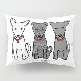 3 Musketeers, I Love Bali Dogs Pillow Sham