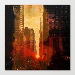 Midtown, Urban Grunge Canvas Print