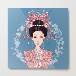 Sea Goddess Metal Print