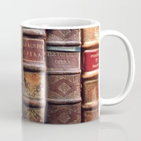library Mugs featuring Library by Mad Marys