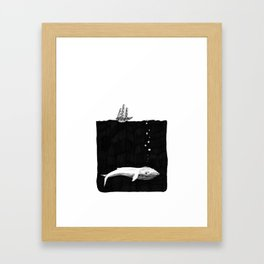 Big Whale, Little Boat Framed Art Print