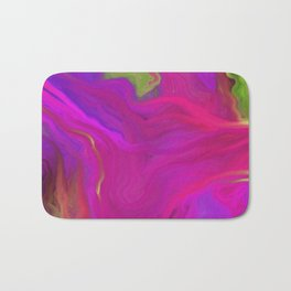 AGATE INTERPRETED:  PINK LAVA BEDS OIL PAINTING Bath Mat