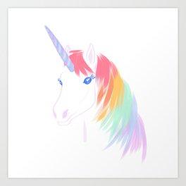 Rainbow Unicorn Art Print