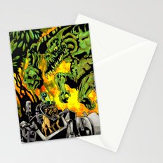 Doktor Steampug Versus Gorillizard! Stationery Cards
