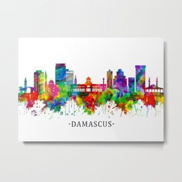 Damascus Syria Skyline Metal Print