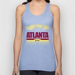 Atlanta, Geogia Gifts  Distressed Coordinates Unisex Tank Top