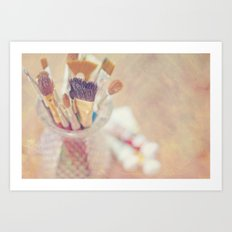 If I could say it in words, there would be no reason to paint... Art Print