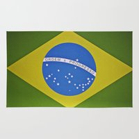 brasil Area & Throw Rugs featuring Patria Amada, Brasil (Brazil) by Irène Sneddon