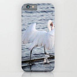 Egret On The Move With Supper iPhone Case