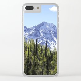 Alaskan Spring Mountains Clear iPhone Case