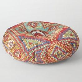 Incesu Turkish Village Antique Long Rug Print Floor Pillow