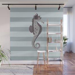 AFE Grey Nautical Seahorse Wall Mural
