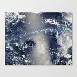 Volcanic Smog and Sunglint in the Vanuatu Archipelago Canvas Print