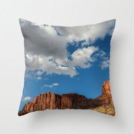 Blue Sky & Sandstone Cliffs - Capitol Reef National Park, Utah Throw Pillow
