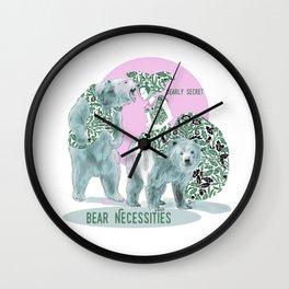 Bear Necessities #1a Bearly Secret Wall Clock