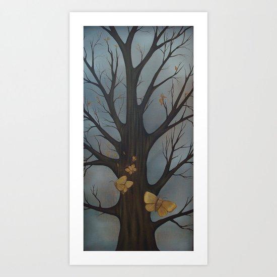 Tree Moths Art Print