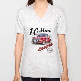 Red Mini #10 Unisex V-Neck