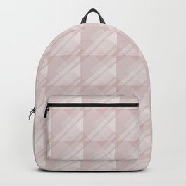 Modern Geometric Pattern 7 in Shell Pink Backpack