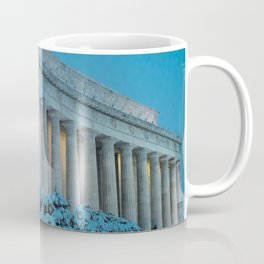 Lincoln Memorial and Snow at Twilight. Coffee Mug