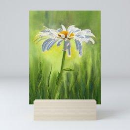 Single White Daisy Mini Art Print