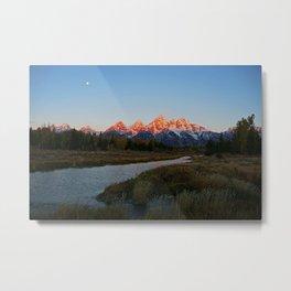 Moonset / Sunrise Metal Print
