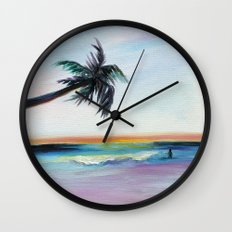 Be Back At Sunset Wall Clock