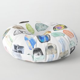 Illuminated Structure: Mineral Party 2 Floor Pillow