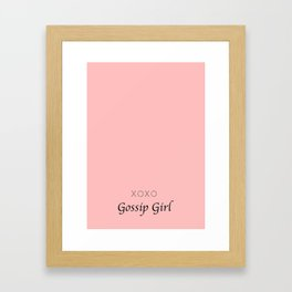 XOXO Gossip Girl - tvshow Framed Art Print