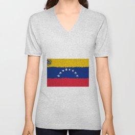Extruded flag of Venezuela Unisex V-Neck