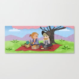 Dragon Age - Varric and Cole Picnic Canvas Print